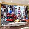 Современная популярная модная настенная роспись Нью-Йорк-стрит Red Bus Mural Магазин одежды Офис KTV Living Room Backdrop 3D Обои современная модная настенная роспись custom 3d стереоскопическая минималистическая розовая роза photo wallpaper living room large murals диван tv backdrop