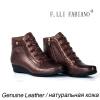 осенью и зимой обувь женская обувь fashiobale молния клин пятки металлические браун реального кожаные туфли кир булычев клин клином