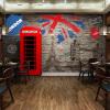 Пользовательский Любой размер Европейский Ретро Имитация Кирпичная стена Mural Обои для стен 3 D Ресторан Кофе Гостиная Обои Фрески самые дешевые обои для стен брянск