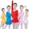 Футболка с длинным рукавом Spandex Gymnastics для девочек Балет Латинская танцевальная практика Одежда Детская танцевальная одежда
