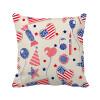 USA Balloon Candy Heart Flag Star Festival Square Throw Pillow Insert Cushion Cover Home Sofa Decor Gift
