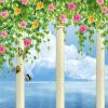 все цены на Пользовательские 3D-обои для фотографий Римская колокольня Цветочная лоза Blue Sky Настенные росписи для гостиной TV Обои для рабочего стола Природа Пейзаж онлайн