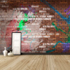 Пользовательский размер Фото Крупные росписи ретро кирпичная стена граффити кофейня KTV случайные обои фреска обои граффити где в тольятти