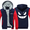 2018 New USA SIZE Anime Pokemon Go Pocket Monster Gengar Coats Men's Hoodies Sweatshirts Winter Thicken Fleece Clothing pokemon go new pokeball toy 2016 5styles new puzzle 3d miniature building blocks assembled anime abs super master pokemon ball
