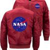 Космическое управление НАСА Новая Bomber Jacket Летающие зимы куртки сгущать Теплое ZippeR Пуловеры Аниме Повседневный Coat ветрозащитная куртка umbro prodigy team shower jacket 410215 611