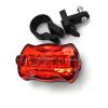 Светодиодный велосипедный фонарь 5 светодиодных задних хвостов дневного света с подсветкой Красный велосипед задний фонарь Задний
