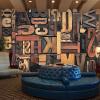 Большие пользовательские обои Mural 3D Vintage English Letter KTV Living Room Backdrop Art Wallpaper Нетканые отпечатанные обои Rolls