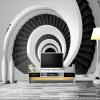Современные креативные 3D-пользовательские обои для фото обои Черные и белые вихревые лестницы Простые стильные обои для стен гостиной