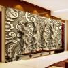 Пользовательские обои для фото 3D Стереоскопическая рельефная статуя Жилая комната с ТВ Фон Обои для стен Обои Mural Papel De Parede 3D обои для стен в нижнем онлайн