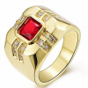 2.3CT Size 8 To 15 Jewelry Ruby Topaz Emerald Amethyst Sapphire/Garnet Zircon stones 10KT Man's Gold Plated Ring Wedding Gift рюкзаки puma рюкзак 365 backpack