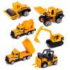 babamama инженер игрушка игрушка бульдозер сплав автомобиль модель дети мальчик девочка ребенок инерция автомобиль игрушка 6 Pack B5018 игрушка