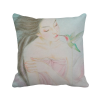 Beauty with Bird Chinese Style Watercolor Polyester Toss Throw Pillow Square Cushion Gift