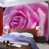 HD Water Drop Розовая роза Фотообои 3D-настенная роспись Романтический декор Свадебный дом Гостиная Теплые обои Papel De Parede 3D мозаика белоснежка розовая роза