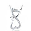 yoursfs ® 925 серебро искусственной Diamond кпп кулон свадьбу ожерелье моды серебряные украшения