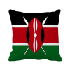 Kenya National Flag Africa Country Square Throw Pillow Insert Cushion Cover Home Sofa Decor Gift hungary national flag europe country square throw pillow insert cushion cover home sofa decor gift