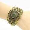 Новый стиль турецких женщин цветок браслет Этнические манжеты Античный браслет ювелирных изделий с золотом Индии полые Арабески св