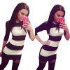Lovaru ™2 015 новая женщина в платье простое платье полоса Черное и белое платье мозаика стиль работы 015 спб 015 кукла боярский костюм в ассортименте