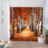 Пользовательские фотообои 3D-стерео красивые осенние берёзовые деревянные коридоры Входные обои спальня гостиная кафе двери металлические входные в алмате