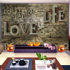 Пользовательские 3D стереоскопические фото обои Mural Retro Brick Pile Wall Living Room Sofa Backdrop Mural Wall Paper Home Improvement home improvement