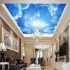 Современные 3D-обои для фото Синее небо и белые облака Обои для рабочего дома Интерьер Декор Гостиная Потолок Лобби Mural Обои