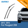 SUMKS Wiper Blades for Peugeot 208 26&16 Fit Push Button Arms 2012 2013 2014 2015 2016 sumks wiper blades for peugeot 301 24