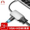 Snowkids Apple Laptop Adapter Type-C HDMI Converter с USB-C Turn VGA Многофункциональный кабель Проектор Телевизор Кабель Silver проектор hitachi hcp 380wx hdmi rj45 usb