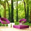 Пользовательские обои Mural для стены 3D Солома Зеленые леса Деревья Картина Нетканые обои для гостиной Декоративный фон фон для презентации черный