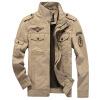куртки Куртки из хлопчатобумажной куртки Diliba Men Black-Khaki-Army Green