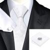 n-1163 Vogue мужчин шелковым галстуком набор цветов белый галстук платок запонки набор связей для мужчин официальный свадебный бизнес оптом оптом крепление для авторегистратора
