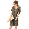 Lovaru ™HOT SALE 2015 новая мода случайные V-образным вырезом с коротким рукавом прямо летом стиль чистый цвет мини-платья свободное платье с v образным вырезом marni платья и сарафаны мини короткие