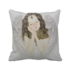 White Wing Pretty Girl Chinese Painting Polyester Toss Throw Pillow Square Cushion Gift pretty girl in the lavender field oil painting