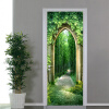 3D обои Китайский стиль Bamboo Grove Scenery Photo Mural Door Sticker Living Room Study Home Decor PVC обои 77cmx200cm kate photo background scenery