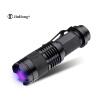 Высококачественный CREE Zoomable LED УФ-фонарик Алюминиевый сплав УФ-фонарик Свет Ультра-фиолетовый свет Черный свет УФ-лампа