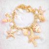 Мода Мульти Океана Морская Звезда Морская Звезда Раковину Жемчужной Цепи Пляж Браслет