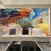 Пользовательские обои Mural 3D Личность Абстрактный рисунок Граффити Стена Картина Кино Бар KTV Спальня Телевизор Фон Фото обои пользовательские обои фрески 3d hd лесной рок водопад фотография фон стена картина гостиная диван фото mural обои