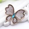 Великолепная Австрия Rhinestone бабочка цветок брошь Pin женщин антикварные золотые цвета насекомых броши ювелирные изделия дамы H