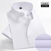 Полосатая рубашка мужчин платье Хлопок Короткие рукава Повседневная одежда бренда Мода Блузка рубашка мужчин плед 2018 SummerD4.22 платье рубашка fox yulia sway платье рубашка fox
