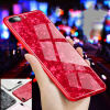 Tempered glass Phone Case Foil Bling Paillette Phone Cases For iPhone 8 7 6 6S Plus X White Conch Shell Phone Case butterfly bling diamond case