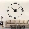 3D настенные часы безрамные Современные зеркальные металлы Большие настенные наклейки Часы настенные часы Room Home Decorations настенные часы весна счк 213