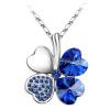 Кристалл сердца ювелирных изделий женщин Vintage ювелирных изделий от австрийских ожерельков ожерелья листьев листьев венчания Trendy 201
