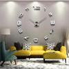 3D настенные часы безрамные Современные зеркальные металлы Большие настенные наклейки Часы настенные часы Room Home Decorations настенные часы zero branko zs 004