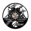 Классический 3D-гитарный барабан Музыкальная тема Виниловая пластинка Настенные часы Стены искусства Творческая личность Подарки 3 Стиль виниловая пластинка coldplay ghost stories
