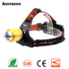 Zoomable LED Headlamp Blue White Light Double Lights 18650 Rechargeable LED Headlight Waterproof Bicycle Cycling Head Light