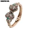 SUNSPICE MS. Новые турецкие любовные чары Браслеты и браслеты из старинных часов для женщин Антикварные золотые цвета Богемия Инди