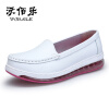 Белые медсестры обувь женская одиночная игра обувь толстая дно XiuXianXie подхватили рубашка ноги подушки-даг обувь XiaoBai туфли женская обувь для одной обуви женская обувь flattie кожаная обувь asakuchi одиночная обувь