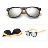 Мужские солнцезащитные очки Bamboo Мужские деревянные солнцезащитные очки Женские зеркальные очки - черный + синий Меркурий