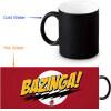 Теория большого взрыва 350 мл / 12 унций Тепловыражение Кружка Изменение цвета Чашка кофе Чувствительные морфинг-кружки Волшебная чашка для чайных чашек футболка стрэйч printio теория большого взрыва