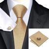 n-0532 Vogue мужчин шелковым галстуком поставили золото новинка галстук платок запонки установить связи для мужчин официальный свадебный бизнес оптом жидкое стекло где оптом