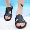 2018 Летний новый стиль моды кожаные сандалии Slip Plus размер сандалии и тапочки Beach Shoes кроссовки dc shoes dc shoes dc329amvnu87