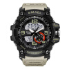 Military Watches Army Men's Wristwatch LED Quartz Watch Digtial Dual Time Men Clock 1617 reloj hombre Sport Watch Army